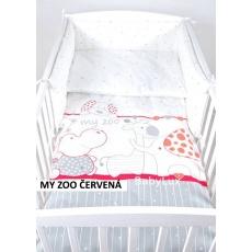 Povlečení + mantinel do postýlky - my zoo malina