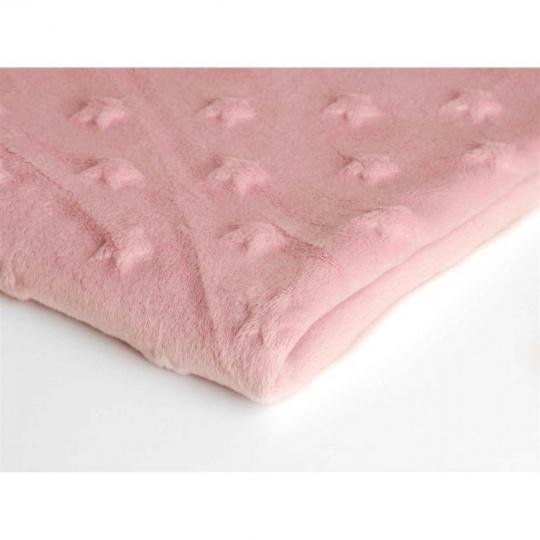 Minky hvězdičky, šířka 160cm - hvězdičky růžové