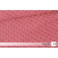 Minky, šířka 160cm - 32 koral  350g/m2