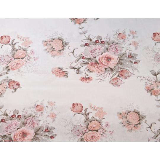 100% bavlněné plátno  šíře 160cm růže 3365