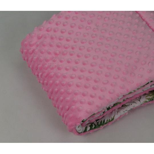 Minky, šířka 160cm - růžová 230g/m2