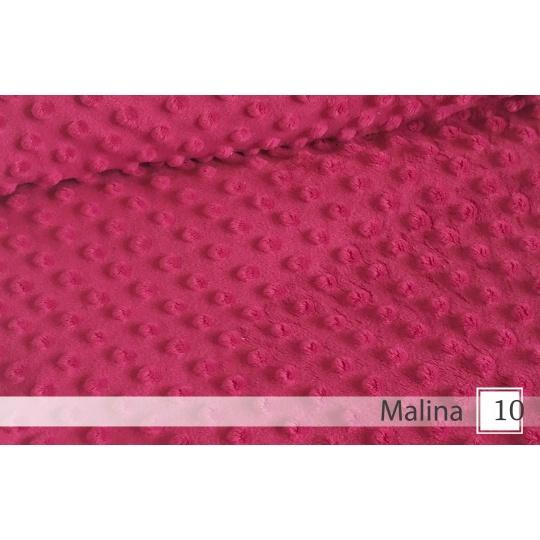 Minky, šířka 160cm - 10 malinová  350g/m2