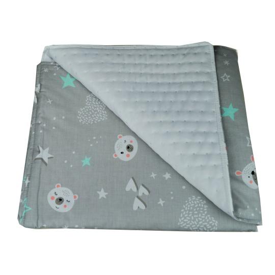 Tenká deka ELFan s mikrofleecem, zelené HV + piko