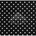 Kočárkovina puntíky na černé