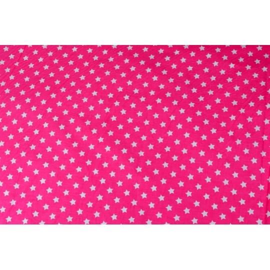 100% bavlněné plátno šíře 160cm hvězdičky na růžové