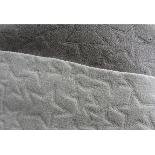 Fleece šedá+popel hvězdičky ultrazvuk