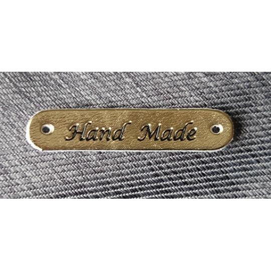 Štítek Hand Made - zlatý