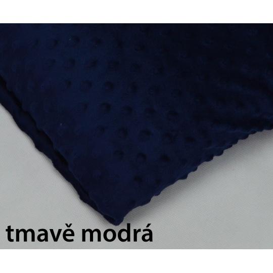 Minky, šířka 160cm - tmavě modrá  230g/m2