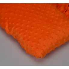 Minky, šířka 160cm - oranžová