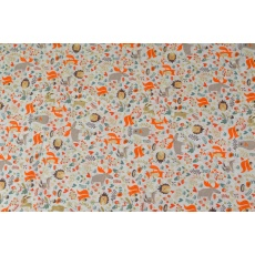 100% bavlněné plátno šíře 160cm lišky se soby