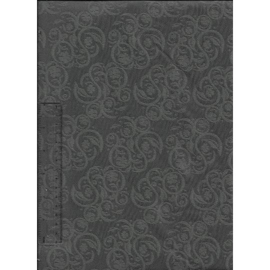 Kočárkovina šedé ornamenty