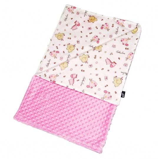 Tenká deka ELFan růžoví sloníci + minky