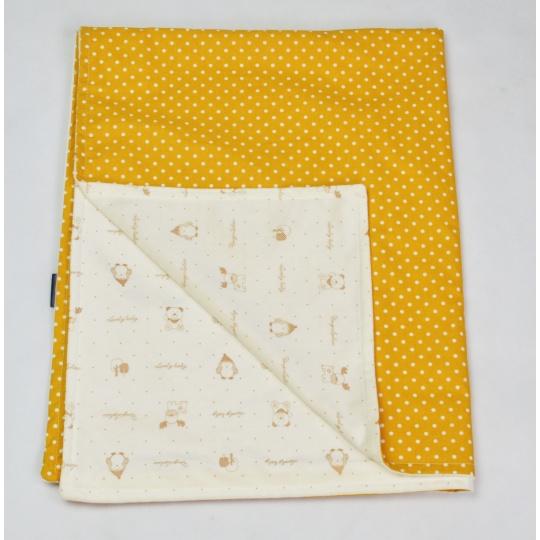 Tenká deka ELFan s mikrofleecem, punti + zvířátka