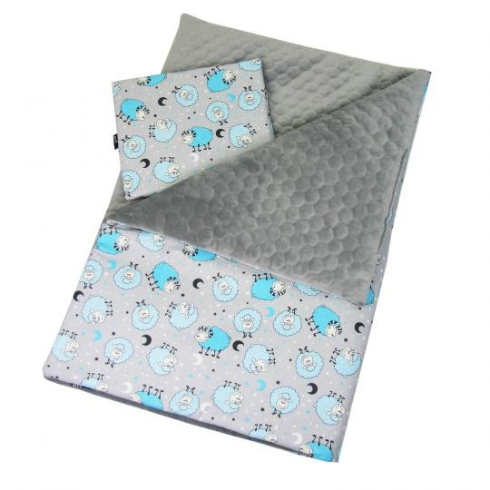 Luxusní deka Elfan ovečky modré + prošev