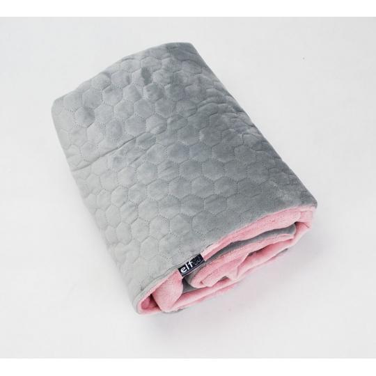Luxusní deka Elfan šedé plástve