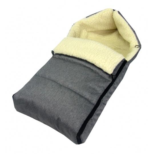 Zimní fusak s ovčí vlnou 90 cm - dark jeans