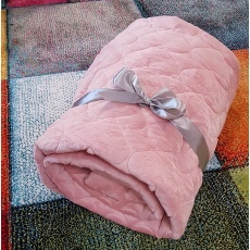 Luxusní deka Elfan starorůžová srdce