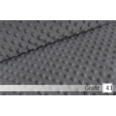 Minky, šířka 160cm - 41 grafit  350g/m2