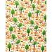100% bavlněné plátno šíře 160cm lišky se stromy
