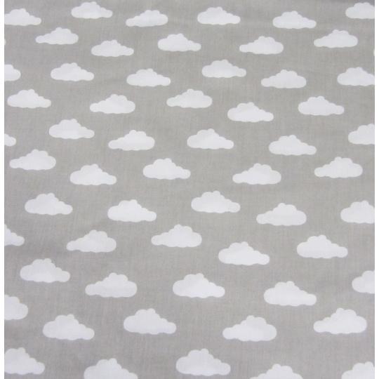 100% bavlněné plátno  šíře 160cm mráčky na šedé