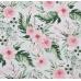 100% bavlněné plátno šíře 160cm divoké květy bílé