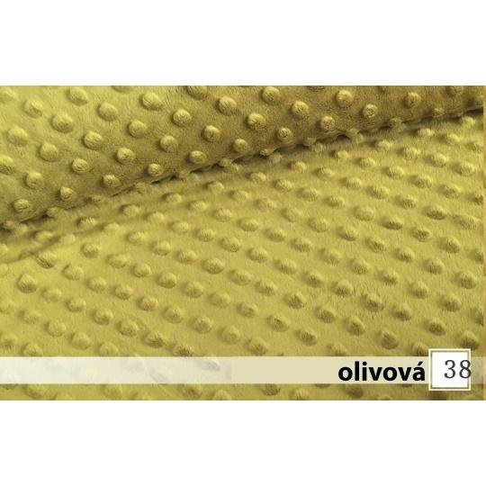 Minky, šířka 160cm - 31 olivová  350g/m2