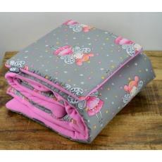 Teplá deka s polštářkem ELFan víly + růžová