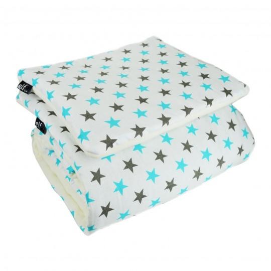 Teplá deka s polštářkem ELFan HV na bílé + bílá