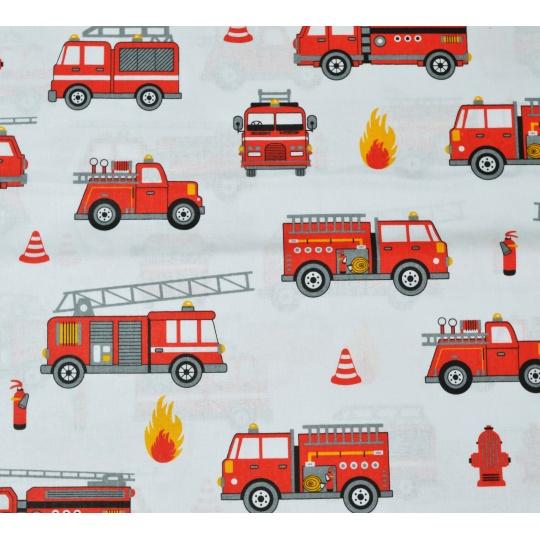 100% bavlněné plátno - hasiči