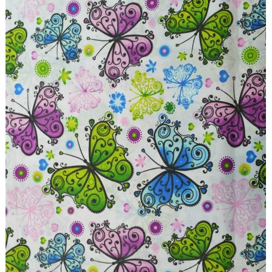 100% bavlněné plátno  šíře 160cm motýlci