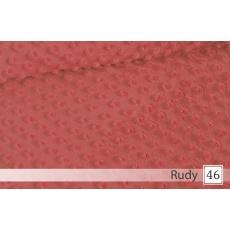 Minky, šířka 160cm - 30 rudy  350g/m2