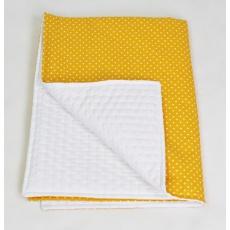 Tenká deka ELFan s mikrofleecem, puntíky + piko