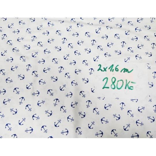 100% bavlněné plátno  šíře 160cm kotvy na bílé