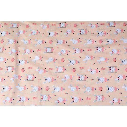 100% bavlněné plátno šíře 160cm baletky zajíčci