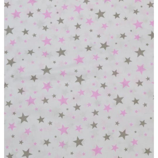 100% bavlněné plátno - HV růžové