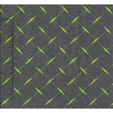 Kočárkovina šedá se zelenými křížky