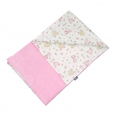Tenká deka ELFan růžoví sloníci + prošev