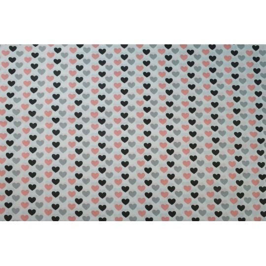 100% bavlněné plátno  šíře 160cm malá srdíčka
