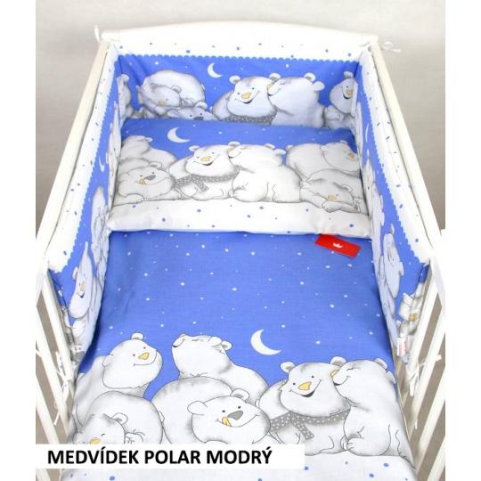 Povlečení + mantinel do postýlky - lední medvědi modrá