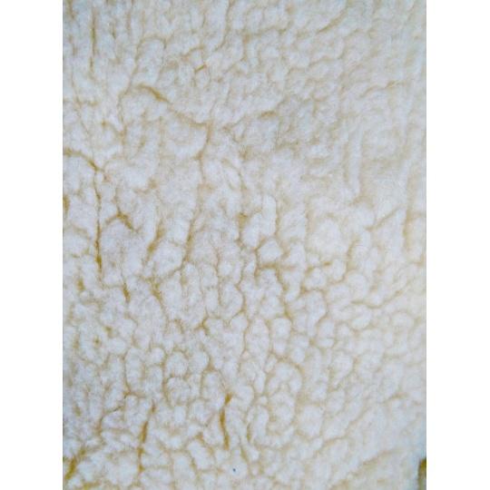 Zatkávané rouno složení 30% vlna+ 70% polyester