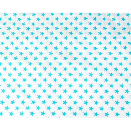 100% bavlněné plátno hvězdičky tyrkysové 135*160cm