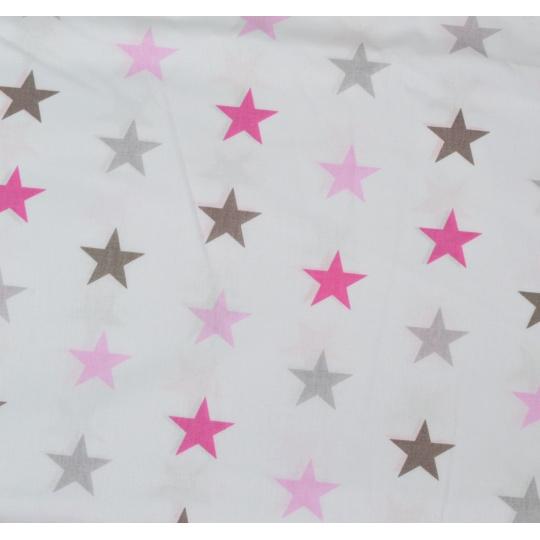 100% bavlněné plátno - růžové HV na růžové